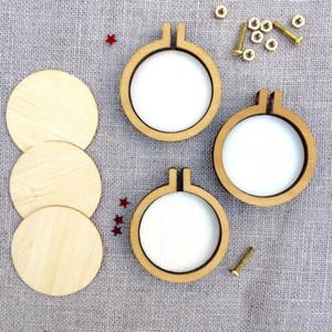 Mini en bois brodé Stretch Cross Stitch Frame / cerceau ovale circulaire bricolage Arts livraison gratuite