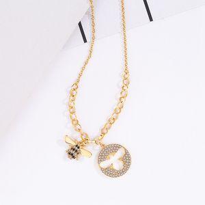 Collier délicat d'abeille femmes quotidien colliers accessoires de mode avec bijou or beau pendentif colliers en tant que cadeaux 30% plaqué or