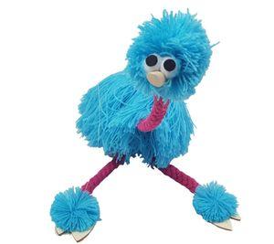 36cm / 14 pollici Decompression Toy Marionette Doll Muppets Animal muppet burattini di mano giocattoli peluche struzzo Marionette bambola per bambino 5 colori C5569
