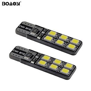 W5W LED T10 12SMD 2835 Lampes de voiture 168 194 Clignotant Plaque D'immatriculation Lumière Tronc Lampe Clairance Lumières Lampe de lecture