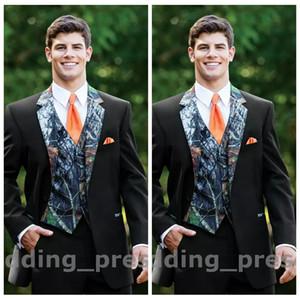 2019 Amazing Country Handsome Camo Men Wedding Tuxedos Custom Formal Groom Wear Camouflage Groomsman Suit Best Fitted (Jacket+Pant+Vest+Tie)
