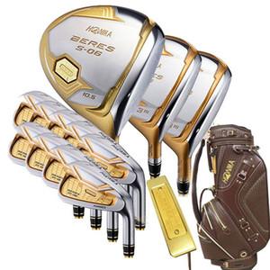 Novos mens clubes de Golfe HONMA s-06 4 star golf conjunto completo de clubes motorista + fairway wood + putter + saco de grafite eixo de golfe headcover Frete grátis