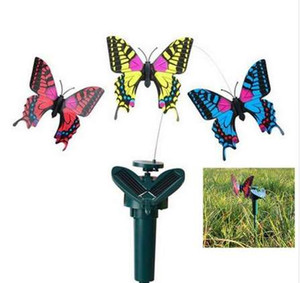 새로운 창조적 인 진동 솔라 파워 춤 플라잉 펄럭 이는 나비 Hummingbird Garden Decorative Stake
