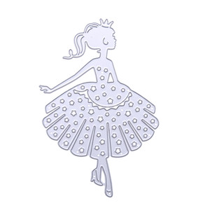 Dancing Girls Cutting Dies Scrapbooking Album Stencil in metallo decorativo Fai-da-te DIY Craft Taglio Die Cuts Modello di goffratura