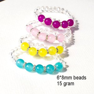60 шт./лот граненый Кристалл браслет кварц стрейч браслет рейки розовый браслет модные аксессуары четыре цвета доступны