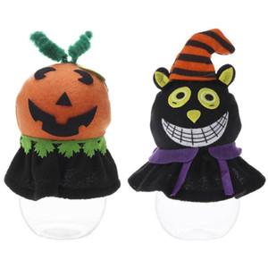 Halloween Party Bottiglia Candy Jar Bambini Bambini Regalo Scoiattolo Scatola di immagazzinaggio Anello Contenitore di monili Zucchero Halloween Decorazione vendita calda di trasporto libero