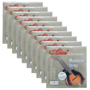 10Sets Alice Mandolin Strings Coated Copper Alloy Wound EADG 8 Strings Set AM04