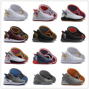 2018 D Rose 9 Blanc Or Hommes Chaussures de Basketball Homme de Qualité Supérieure Derrick Rose chaussures 9 Sport Sneakers chaussures design Taille 40-46