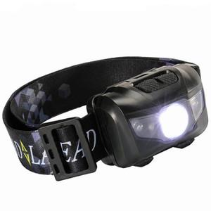 À prova d 'água de Pesca LED Faróis Super Leve 5 W Portátil Farol Para O Acampamento Ao Ar Livre Correndo Branco Faróis de Luz Vermelha 13cr X