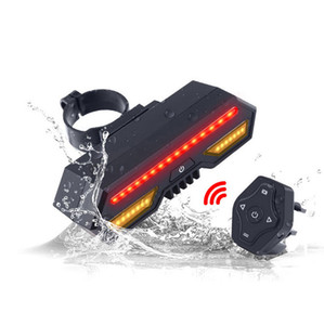 Smart Bike Tail Light Control remoto inalámbrico Señales de giro USB recargable LED luces de giro Bicicleta Mountain Road Bike