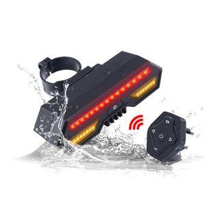 Smart Fahrrad Rücklicht Drahtlose Fernbedienung Blinker USB Wiederaufladbare LED Fahrrad Blinker Berg Rennrad