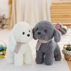 Miaoowa 1pc 25 / 38cm 귀여운 강아지와 스카프 Kawaii 플러시 장난감 귀여운 인형 어린이위한 사랑스러운 생일 선물 어린이 소녀