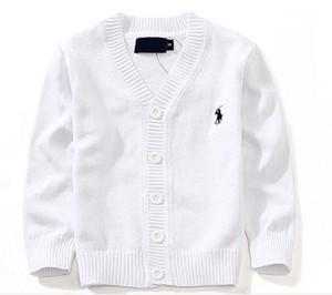 Autunno Kids 7 colori cardigan cappotto ragazzo maglioni 100% cotone color caramello Baby Boys ragazze monopetto giacca polo esterno
