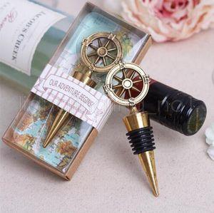 Золотой компас винная пробка свадебные сувениры и подарки открывалка для бутылок вина барные инструменты сувениры для вечеринки подарок GGA504 30 шт.