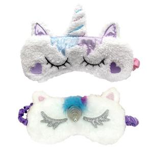 Cute Unicorn Eye Mask sleeping eyes cover Cartoon Eye Cover Shadow Cubierta suave para niña Kid Teen Traveling Sleep Eyeshade