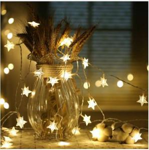 CHASANWAN 3 M 20 Lámpara LED Estrella Batería Caja Luz Cadena Año Nuevo Adornos de Año Nuevo Adornos navideños para el Hogar Navidad.q