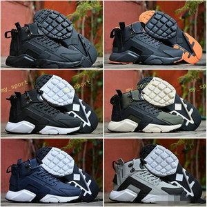 2018 New Air Huarache 6 X acronimo City MID High Top in pelle Huaraches Scarpe da corsa Uomo Sport Huraches Scarpe da ginnastica Hurache Zapatos Taglia 7-11