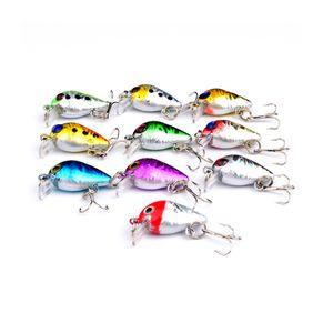 2.6cm 1.6g Crank Bait Swim Fishing Lure Wobbler - Artificial Hard Diving Colorful Mini Fishing Lures Crankbait