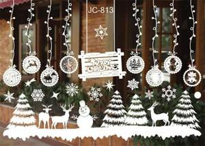 Boneco de neve de natal Removível Início Janela de Vinil Adesivos de Parede Decalque Decoração Venda Quente de Natal janela Transparente Papel De Parede Loja