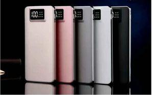 Polímero de potencia móvil 20000 Ma doble salida USB con pantalla LCD, teléfono móvil, tesoro de carga, teléfono celular, bancos de energía
