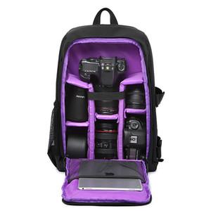 Su geçirmez Dijital DSLR Kamera Video Çantası Yüksek Kaliteli SLR Kamera Sırt Çantası Fotoğrafçı için Çok renkli PE Yastıklı Sıcak Satış