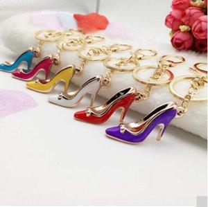 Alta chaveiro de saltos altos sapatos de salto alto bolsas acessórios chaveiro anel de cadeia de carro Multicolor chaveiro de salto alto chaveiro de presente MOQ 100 p