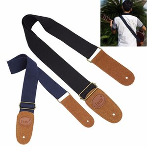 Durable & Adjustable Woven Cotton Strap Belt with Leather Ends for Electric   Acoustic   Folk Guitars free shipping