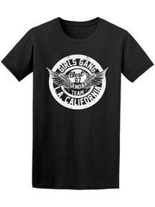 Girls Gang L.a. T dos homens da califórnia manga curta em torno do pescoço camiseta promoção homens t-shirt de algodão 100% top tee