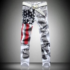 Calças de brim do desenhador de moda para homens hip hop jeans marca famosa denim plus size com asas da bandeira americana jeans frete grátis