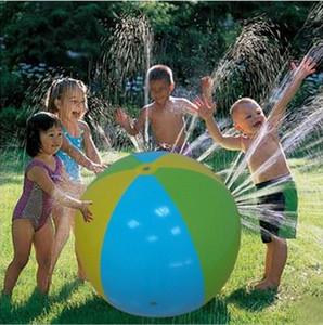 سعيد نفخ شاطئ الحديقة كرة الماء في الهواء الطلق الرش الصيف نفخ المياه بالون رذاذ في الهواء الطلق اللعب في كرة الماء الشاطئ مجانا ق