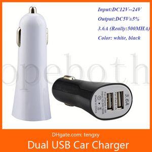 CellPhone Mini Micro adaptador de cargador de coche USB dual 5V 2.1A + 1A para iphone 5 6 7 para samsung mp3 MP4 gps buena calidad