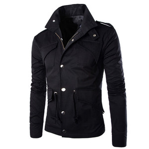Giacca Militare Uomini Cotone British Fashion temperamento commercio Slim Large Size giacca designer Stylish Mens Army Giacche di alta qualità
