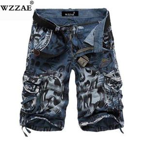 WZZAE 2018 Novo Design Homens Camuflagem Verão Carga Militar Shorts Bermuda Masculina Jeans Masculino Moda Casual Baggy Denim Shorts