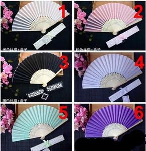 رخيصة الصينية تقليد عشاق اليد الحرير مع مربع مروحة فارغة الزفاف لحفلات الزفاف العروس هدايا ضيف