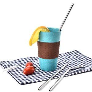 Conveniente in acciaio inox Straw Hotel Caffè Latte Tè Pipa di latte di soia in paglia curva di metallo dritto F20173511