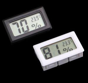 مصغرة الرقمية lcd المدمجة الحرارة الرطوبة الرطوبة متر داخلي ترمومتر أسود أبيض SN1074