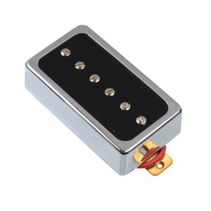 O Style Open Single Coil Pickup 6 Hole 52MM Pickup for LP Guitar Chrome with Black