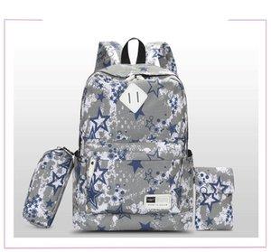 Schoolbag Sac à dos rayé Fashion Fashion The Loisirs Canva + Oxford Sacs Sac à dos Tissu Travel Voyage en plein air Capacité de haute capacité A32 IWKEQ