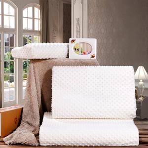 Cuidado de la salud Cervical caliente Ortopédica Latex Neck Foam Pillow Orthopedic Neck Almohada Fibra Slow Rebound Memory Foam
