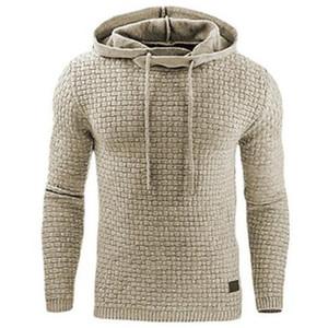 Hoodies Erkekler 2019 Marka Erkek Uzun Kollu Katı Renk Kapüşonlu Sweatshirt Erkek Hoodie Eşofman Ter Ceket Rahat Spor Için erkek