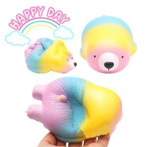 Lovely Polar Bear Decompression Giocattoli Animal Shape Squishies Spremere Toy Regali per bambini Fotografico Take Photo Puntelli 13hm C