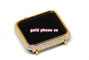 Novo 38 42mm watch case capa case para apple watch series 1 2 3 capa case para apple watch banhado a ouro sem pulseira de diamantes