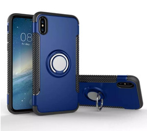 TPU PC 2-in-1 Armor Case ShockProof 360 Ring Stand Holder Magnetic Back Cover For Samsung Galaxy Note8 S9 S9 Plus S8 S8 Plus