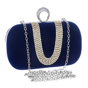 Crystal U-style Day Clutch Bag Ladies Chain Shoulder Small Handbags Female Party Wedding Purse Evening Bag For Women