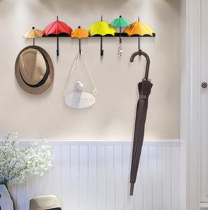 Farbige Regenschirmhaken Kleiderhaken Wanddekoration für Wohnzimmerwand