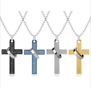 الصليب قلادة الرجال خمر الخرز سلسلة سترة الرجال المجوهرات التيتانيوم المقاوم للصدأ مجوهرات يسوع المقدس الدائري قلادة الرجال القلائد