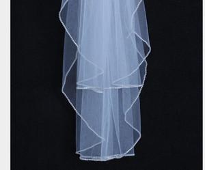 Fils perlés à la main en gros vente chaude double couche, plus peigner les cheveux côté voile Voiles de mariée