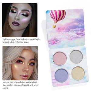 DHL libre HANDAIYAN Chaleleon Highlighter Palette Face Contour Makeup Destacando Bronzer Glow Aurora Shimmer Eyeshadow Cosmetic Kit