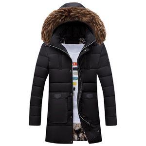 الرجال الشتاء الطويلة سترة الرجال سترة معطف ملابس موضة هود مبطن مبطن الدافئة ذكر الستر الياقة الفراء مقنع عارضة بالجملة