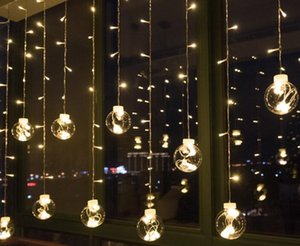 Luci di sfondo creative, barrette di ghiaccio, lampadine a sfera, lampadine decorative, lanterne rosse, luci a LED, luci lampeggianti, luci a tenda stellata.
